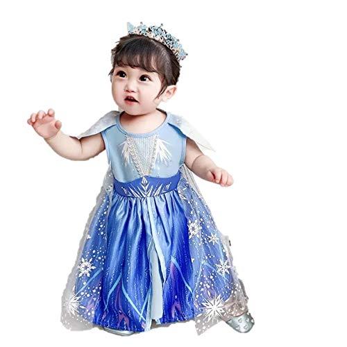 [HIKARi_BABY] ドレスとしても普段着にも!アナと雪の女王2 エルサ ワンピースアナ雪2 仮装 衣装 コスチューム コスプレ ハロウィン オラフ ディズニープリンセス インポート (100)
