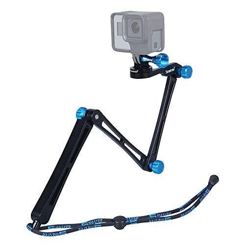 Smatree X1 Aluminium Foldable Pole 3-Way Ajustable Selfie Stick Compatible for GoPro MAX/Hero...
