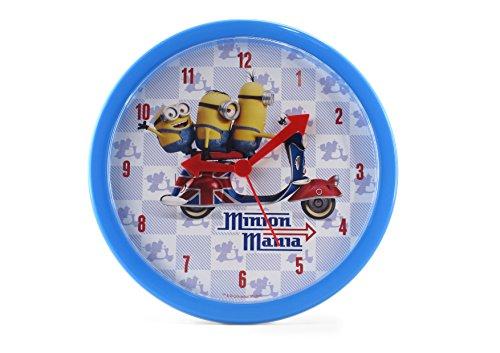 Joy Toy Minions Wanduhr aus Plastik Analog 24 cm in Geschenkpackung 90324