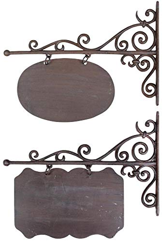 Esschert Design Wandschild, Namensschild, rechteckig oder oval, groß, 1 Stück, Sortiert, ca. 45 cm x 3 cm x 39 cm