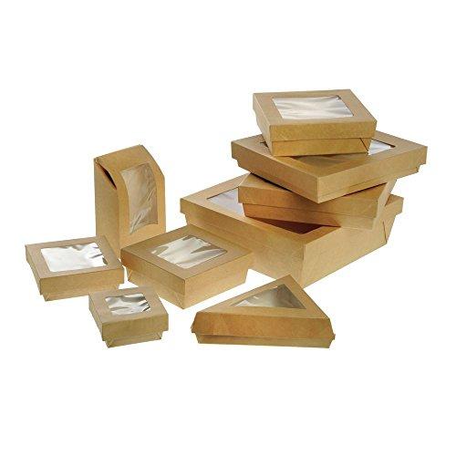 %23 OFF! PacknWood 209PATTRIBR 12 Oz. Kraft Slice Box With Window44; Pack Of 200