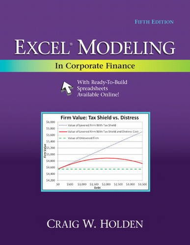 Compare Textbook Prices for Excel Modeling in Corporate Finance 5 Edition ISBN 9780205987252 by Holden, Craig