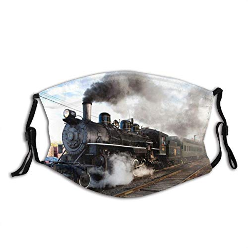 FA-Ce Mas-Ke Munds-chutz Gesichtss-chutz Essex Dampfzug Lokomotive Dampfmaschine Zug Schornsteine Vintage Bahnhof Old Railroad Gesichtsdekorationen FA-Ce Co-Ver Mit Filter