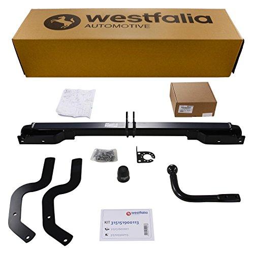 Westfalia Starre Anhängerkupplung - AHK für Peugeot 207 sw / Kombi (ab BJ 06/2007) - Im Set mit 13-poligem fahrzeugspezifischem Elektrosatz
