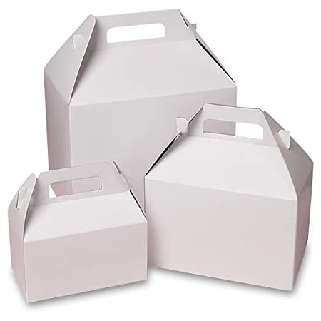 Mini Handle Boxes Macaroon Box set of 10 Mini Gable Box White Gable Box 4 x 2.25 x 2.5 Gable Favor Box