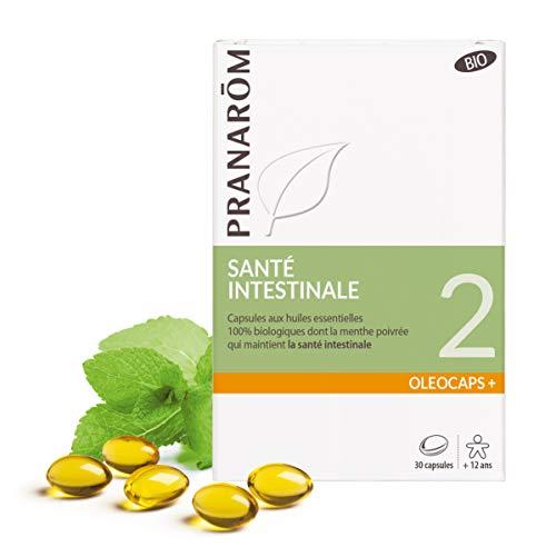 Pranarôm |Oléocaps+ 2|Santé Intestinale Bio|Aux Huiles Essentielles Pures et Naturelles|30 Capsules