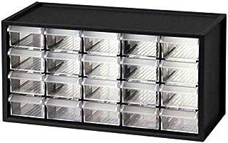 صندوق تخزين مكون من 20 درج بلاستيكي شفاف لتخزين الاكسسوارات