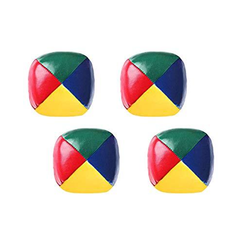 Bolas de malabarismo, 4 piezas de payaso circo juego Pu Toy Ball, multicolor