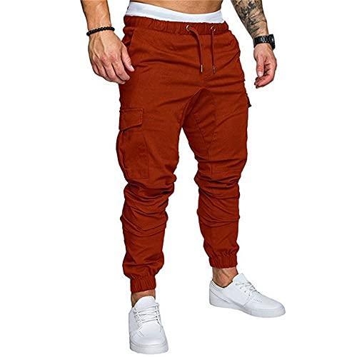 N\P Men Pants Harem Joggers Pants Male Trousers Mens Brown