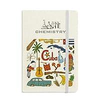 キューバの風景の動物の国旗 化学手帳クラシックジャーナル日記A 5