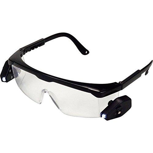 kwb LED Arbeitsbrille 947690 (mit Zwei Separat Schaltbaren, Flexibel einstellbaren LED's, mit Größenverstellung Am Bügel) , 1 Stück,