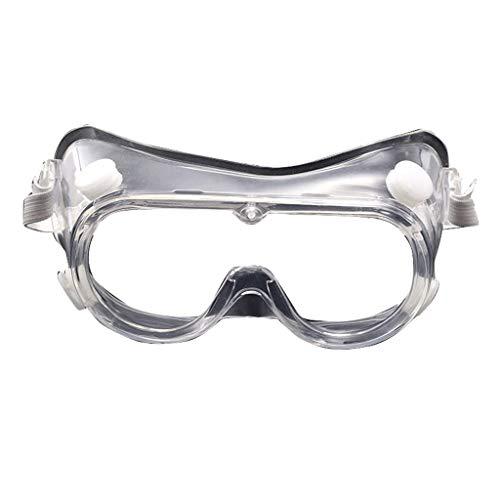 Aoyo Medizinische Isolation Brille Anti-Virus-Tröpfchen vollständig umschlossene Breathable Glasses Transparent Brille Schutzbrille