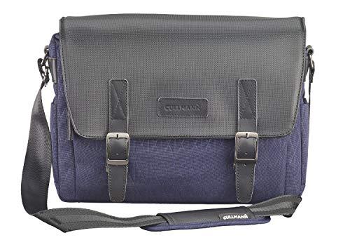 Bolsa para cámaras Cullmann Bristol Maxima 333+ en Estilo Mensajero con Compartimento para tabletas, Color Azul Oscuro, Vintage