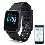 MEDION Fitnessuhr mit Farbdisplay P2200 und App (Multi-Sport-Modi, Herzfrequenzmesser, Schlaftracking, Schrittzähler, Stoppuhr, Staub- und Wassergeschützt IP68)