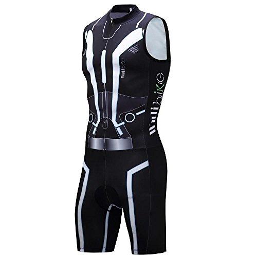 logas Abbigliamento Triathlon Uomo Tuta Triathlon Uomo per MTB Body Triathlon Uomo per Nuoto/Corsa/Ciclismo