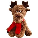 Entplg Muñeca Llena Christmas Elk Peluche Muñeca de Animales Día de Navidad Día de los niños Regalo de cumpleaños 38 cm
