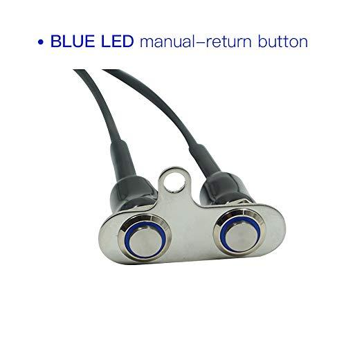 Motorfietsaccessoires, cool en praktisch, 12 V, LED, motorfietsschakelaar, verstelbare montage, waterdichte schakelaar, on-off, koplamp (blauw) Blauw