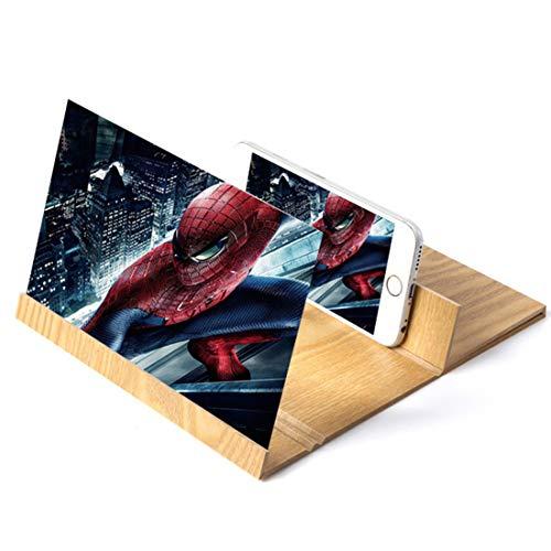 ZHKXBG mobiele telefoon 12 inch scherm loep 3D HD-scherm opvouwbare standplaatshouder vergroten mobiele scherm versterker draagbare Home Cinema Smartphone Screen Amplifier