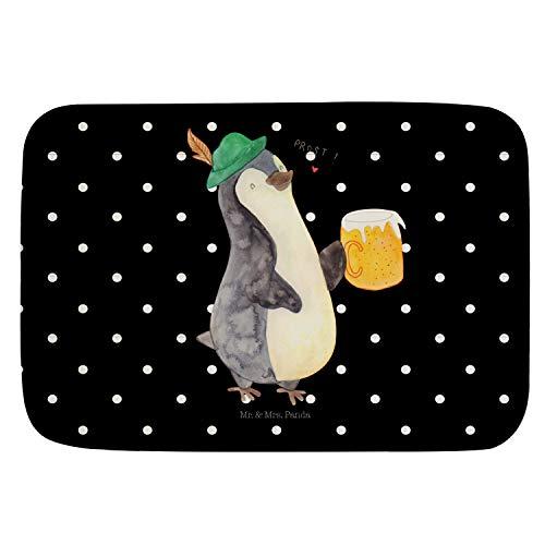 Mr. & Mrs. Panda Alfombra de baño, Alfombra de baño, Alfombra de baño, Alfombra de ducha, antideslizante, Alfombra de baño, Alfombras de baño Cerveza de pingüino Ohne Text Din Quer - Color Negro
