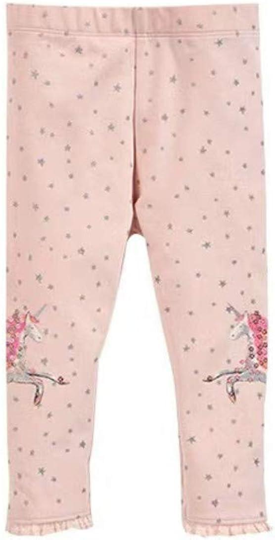 MJQHOZFW Girls Pink Stretch Tights Leggings Children's Pants Unicorn Full-Length Children's Pants