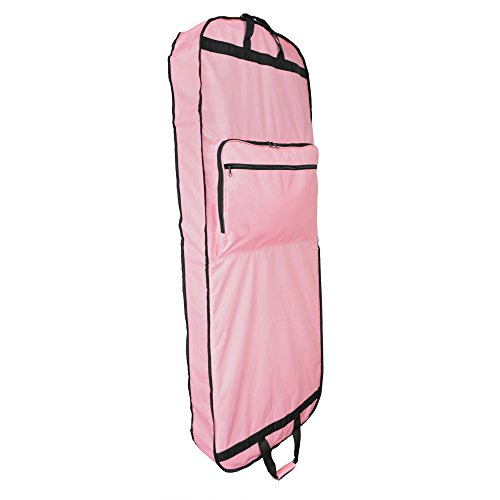 "DALIX 60"" Professional Garment Bag Cover Suits Dresses Gowns Foldable Shoe Pocket in Pink"