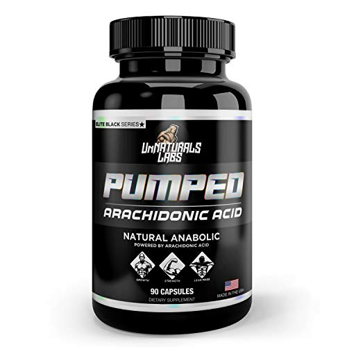 UnNaturals Labs - Pumped (Arachidonic Acid) Muscle Mass Hormone-Free Capsules, 30 Servings, Lean Dry Physique, Shatter Plateaus, Increase Recovery, 750mg Arachidonic Acid