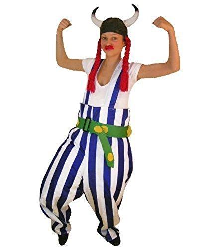 Gallier-Kostüm, TO08 Gr. M, mit Helm und Zöpfen!, Gallier-Kostüme, Gallier-Faschingskostüm, Fasching Karneval, Faschings-Kostüme, Geburtstags-Geschenk Erwachsene