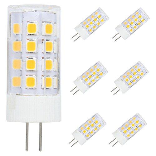 6er pack G4 LED Lampe 5W 36 SMD Leds 400LM, Ersetzt 40W Halogen, Warmweiß 3000K, AC/DC 12V,LED Leuchtmittel, 360° Abstrahlwinkel