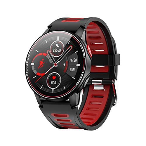 YDL Smart Watch IP68 APROXIMACIÓN APROBACIÓN Fitness Rastreador De Ritmo Cardíaco Monitoreo Inteligente Reloj Hombres Y Mujeres Reloj De Pulsera (Color : Red)