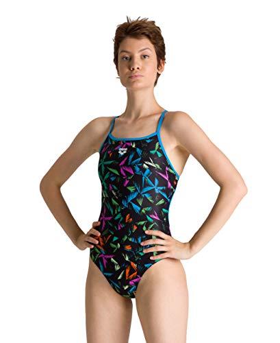 ARENA Bañador 1P Multicolour Webs Swim PRO, Costume da Bagno Donna, Turchese/Multicolore, 40
