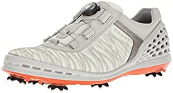 ECCO Mens Men's Golf CAGE Golf Shoes, White (50410SHADOW White / FIRE), 43 EU