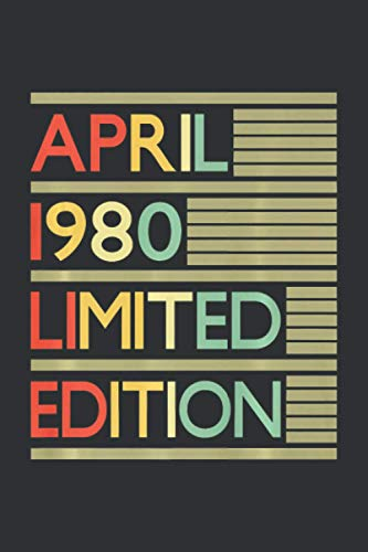 April 1980 Limited Edition (Dream Journal): My Dream Life Journal Notebook, April Birthday Gifts For Him