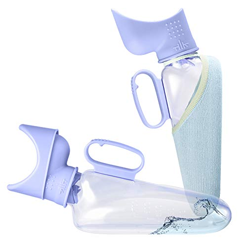 Female Urinal 32 oz / 1000 mL Portable Urinal for Women Transparent Pee Bottle Easy to Clean SpillProof Urinals for Women Hospital Home Bedridden Device