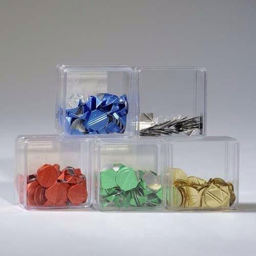 100 silberfarbene Eckenklammern von Alco // Silber Bewerbung Bewerbungsmappen Präsentation