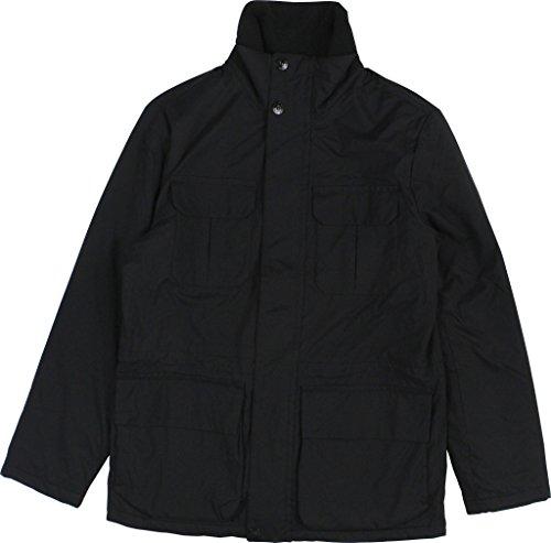 Nautica True Mens Large Full-Zip Windbreaker Jacket Blacks
