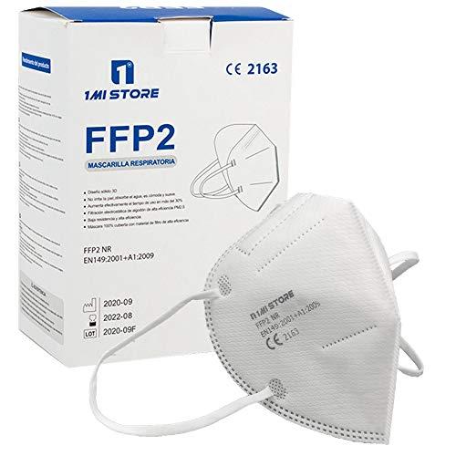 Eurekaled Lot de 20 masques de protection respiratoire FFP2, anti-poussière 5 couches
