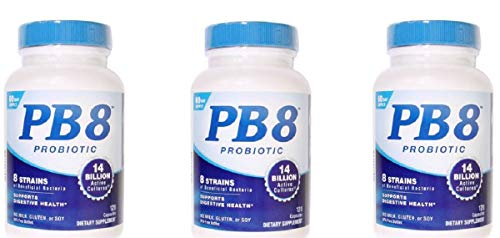 Nutrition Now - Pb 8 Probiotic Acidophilus - 120 Count, Pack of 3