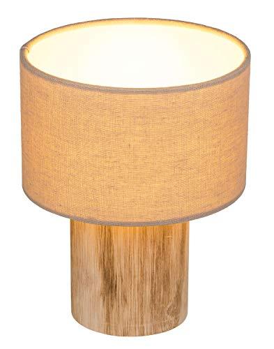 Out of the Blue 190419 - Lámpara de mesa (aspecto natural, con LED blanco cálido, aprox. 20 x 17,5 cm, necesita 2 pilas AAA)