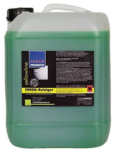 CLEANPRODUCTS Auto Innenraum Reiniger Konzentrat - 10L - Mischung bis 1:10, für Stoff, Kunststoff, Gummi, Aluminium, Plexiglas, Leder, Alcantara, Velours, Holz
