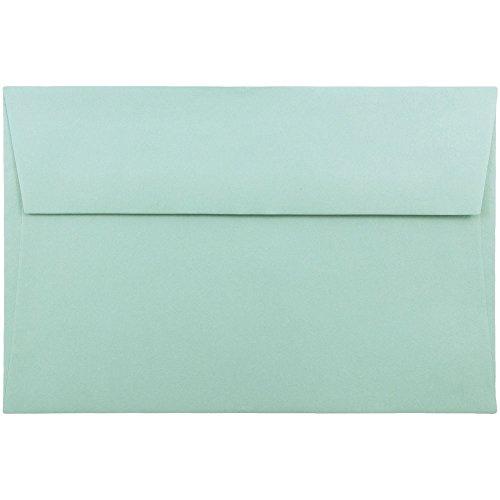 JAM PAPER Einladungsumschläge - 146,1 x 222,3 mm - Aqua - 50/Packung