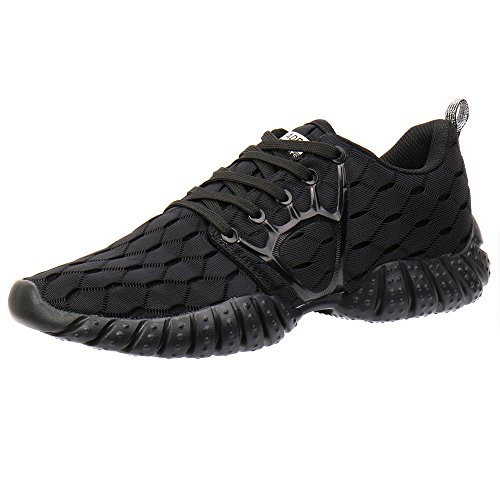 ALEADER Men's Mesh Cross-Traning Running Shoes CarbonBlack 14 D(M) US
