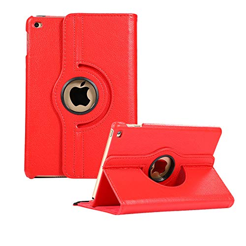 iPad Mini 5 Case 360 Degree Rotating Stand Case Cover for iPad mini5 Mini 4 (Red)