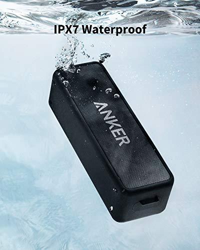 Speaker Bluetooth Portatile Anker SoundCore 2 con suono stereo 12W, Bluetooth 5, BassUp, impermeabile IPX7, 24h di autonomia, associazione stereo WiFi, cassa bluetooth da casa, esterno, viaggi;