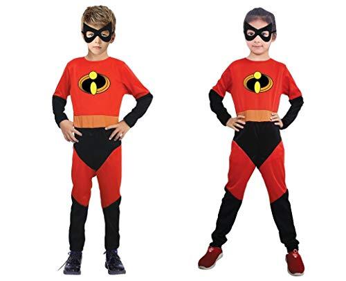 Disfraz inspirado en Los Increíbles. Incluye mono y antifaz. (Niño-Niña. Talla 10-12)