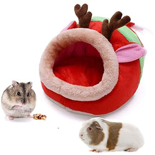 Animales Suave y cálida Casa cálida para Conejo Hámster Cerdo holandés cobaya-27x29x19cm