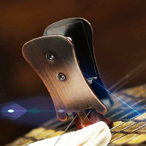 CloverGorge Brown Mute Silencer Gold Clip For Erhu Erhu Accessories, Brown