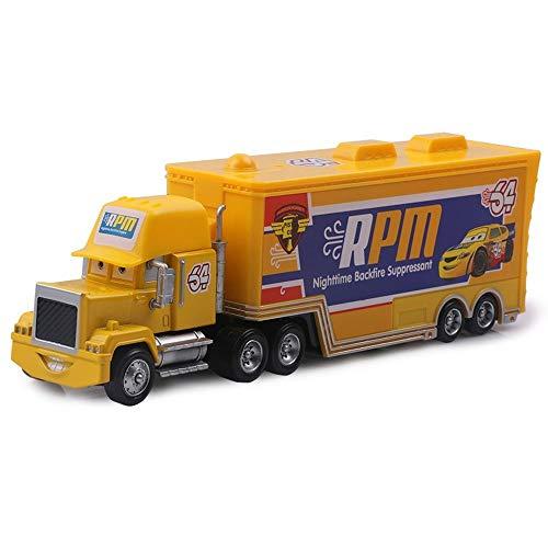 Hannaier Collection car 3 Lightning McQueen 1:55 die-Casting Metal Alloy Model car Toy Child boy (1 truck-19)