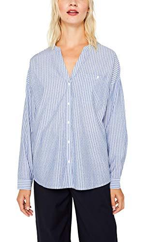 ESPRIT Damen 089Ee1F001S Bluse, Blau (Light Blue 440), (Herstellergröße: 36)