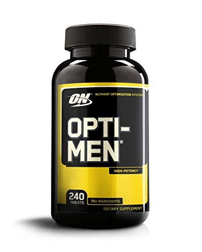 Optimum Nutrition Opti-Men, Vitamin C, Zinc and Vitamin D, E, B12 for Immune Support Mens Daily Multivitamin Supplement, 240 Count