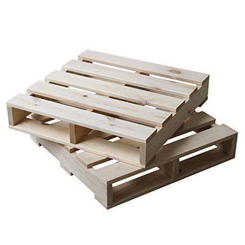 3244(ミツヨシ) ウッドパレット 木製 パレット 正方形 2枚セット ナチュラル パイン材 W505×D505×H100mm MT...